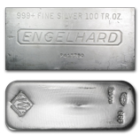 100 oz Johnson Matthey and Engelhard Silver Bars
