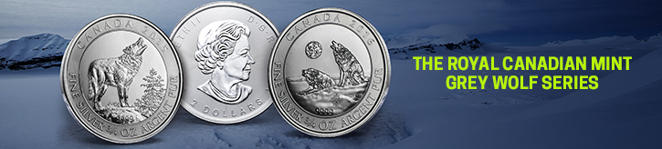 2016 (3/4 oz) Silver Canadian Howling Wolves Coins
