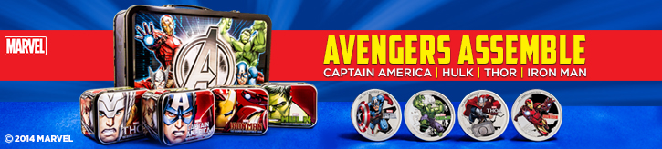 The Avengers Silver Coins