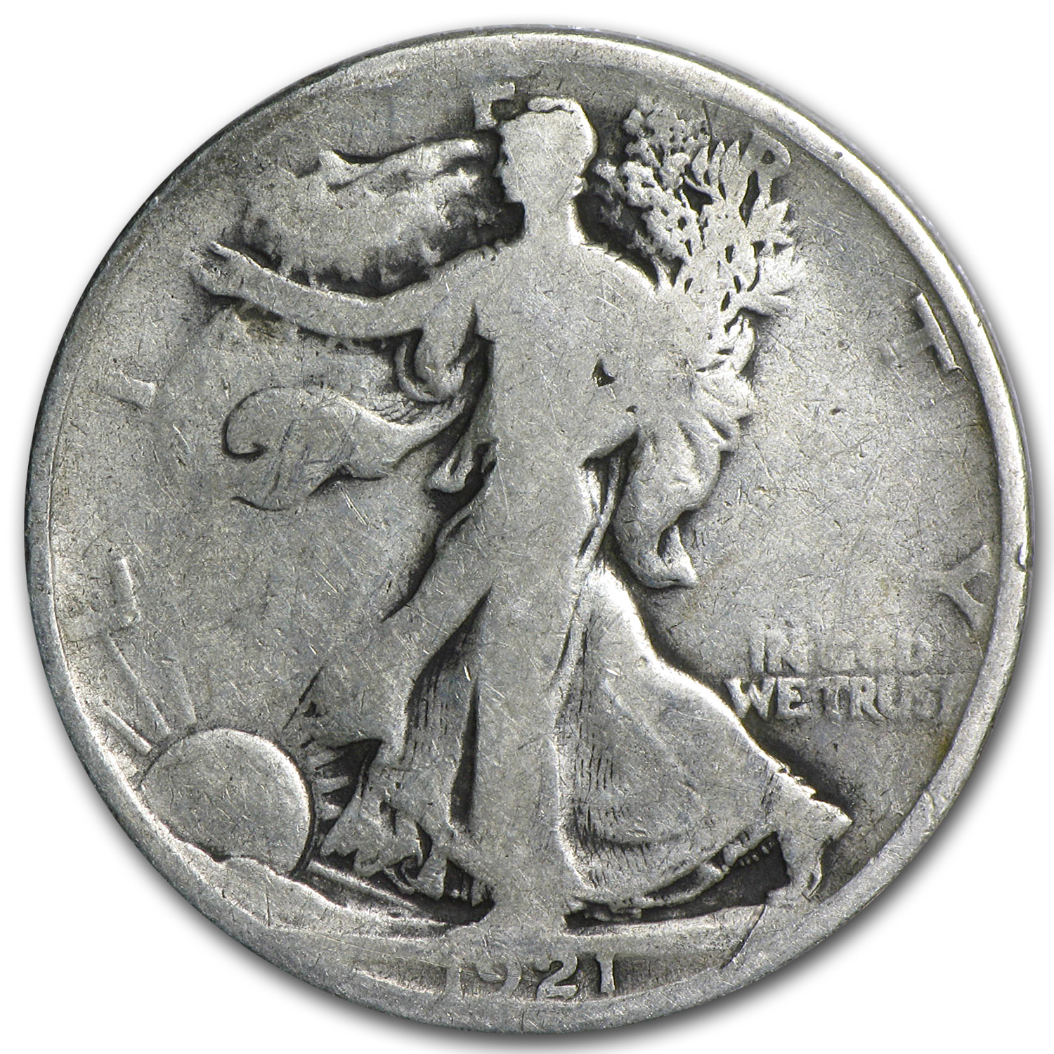 1921-D Walking Liberty Half Dollar Good (Key Date)