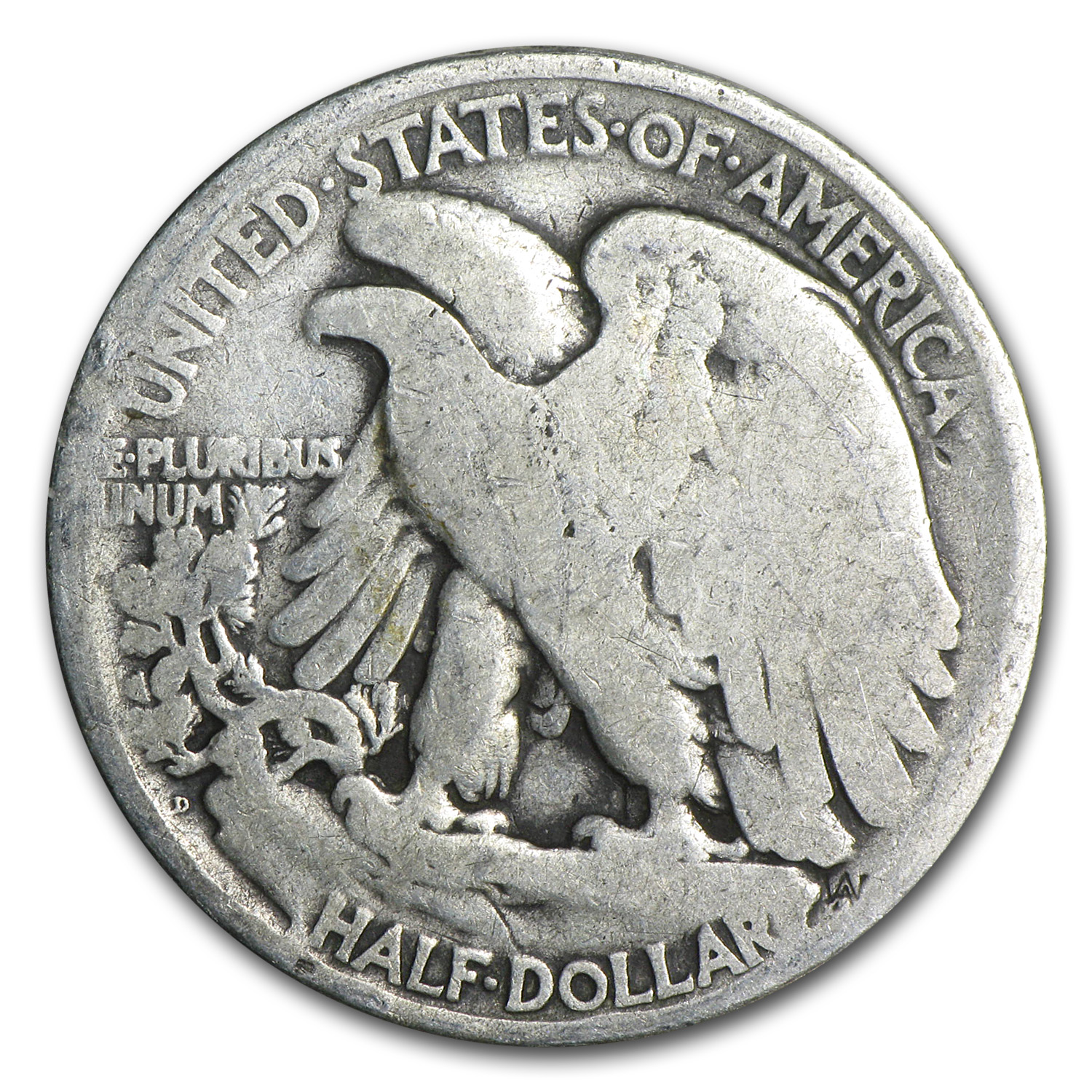 1921-D Walking Liberty Half Dollar - Good