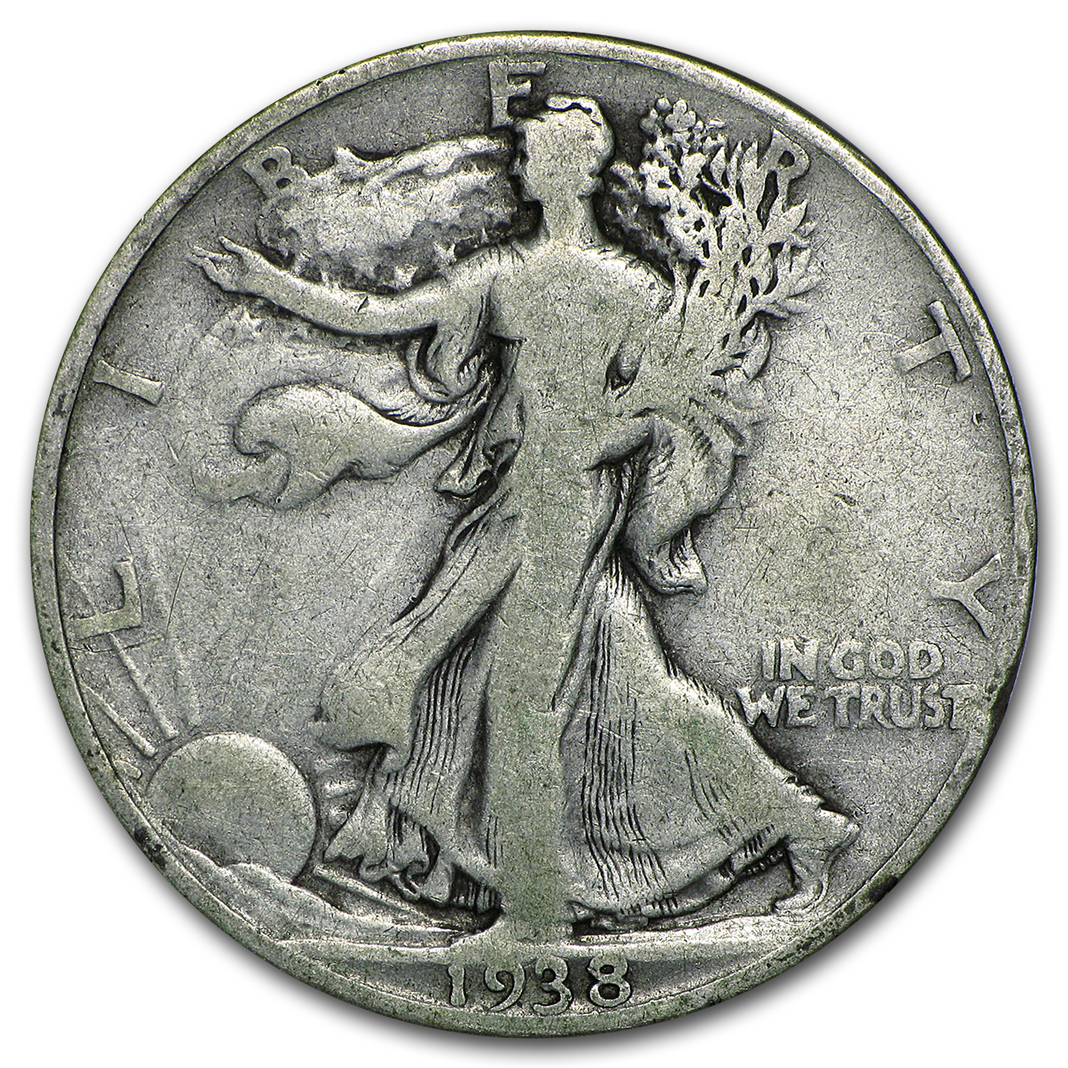1938-D Walking Liberty Half Dollar Good