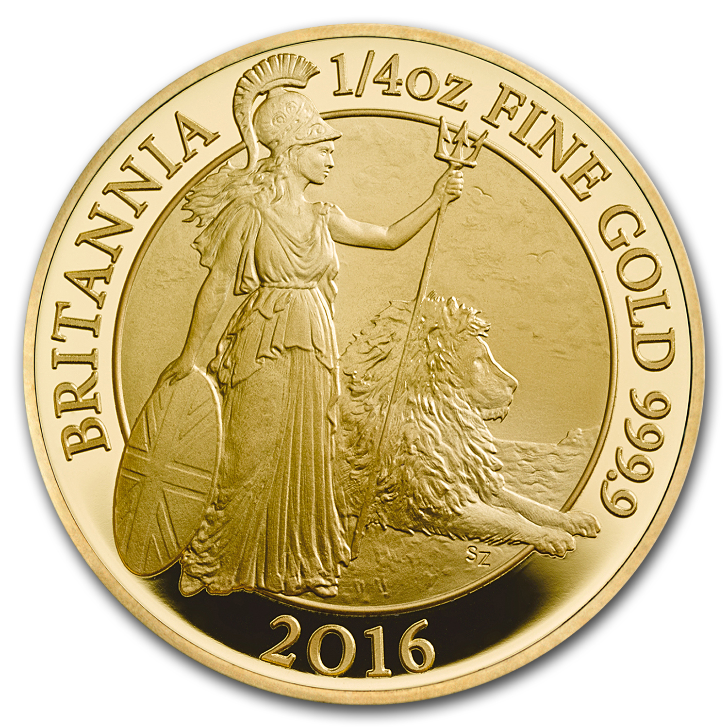 2016 Great Britain 1/4 oz Proof Gold Britannia