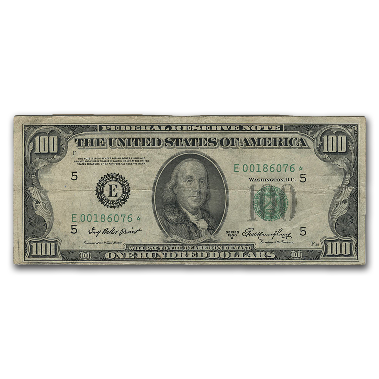 1950-A* (E-Richmond) $100 FRN VF (Star Note)