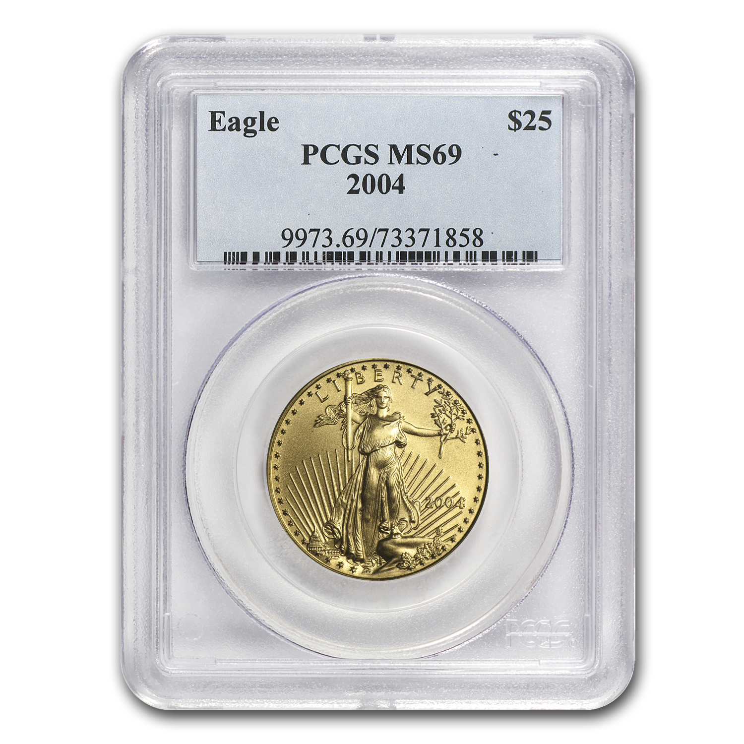2004 1/2 oz Gold American Eagle MS-69 PCGS