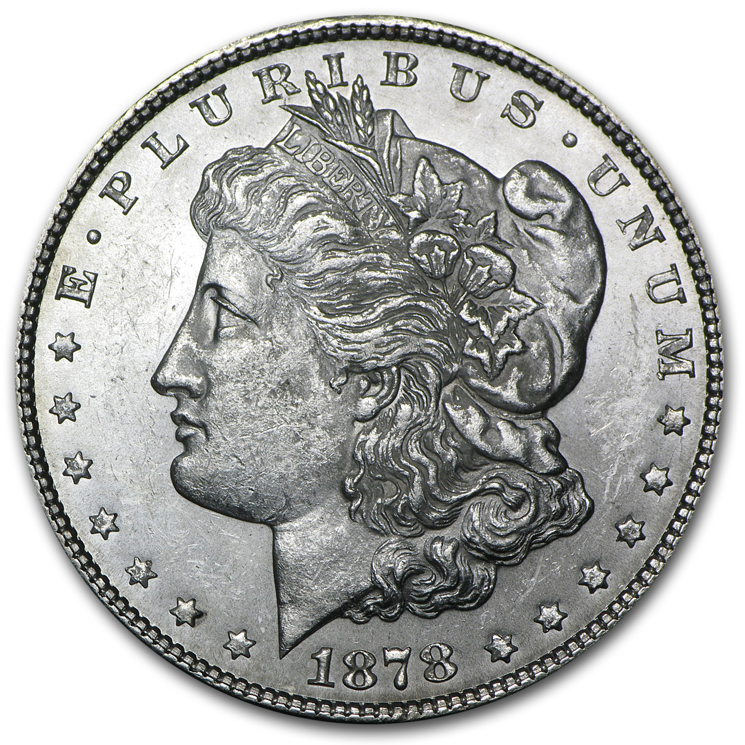 1878 Morgan Dollar - 7 Tailfeathers Reverse of 1879 - BU