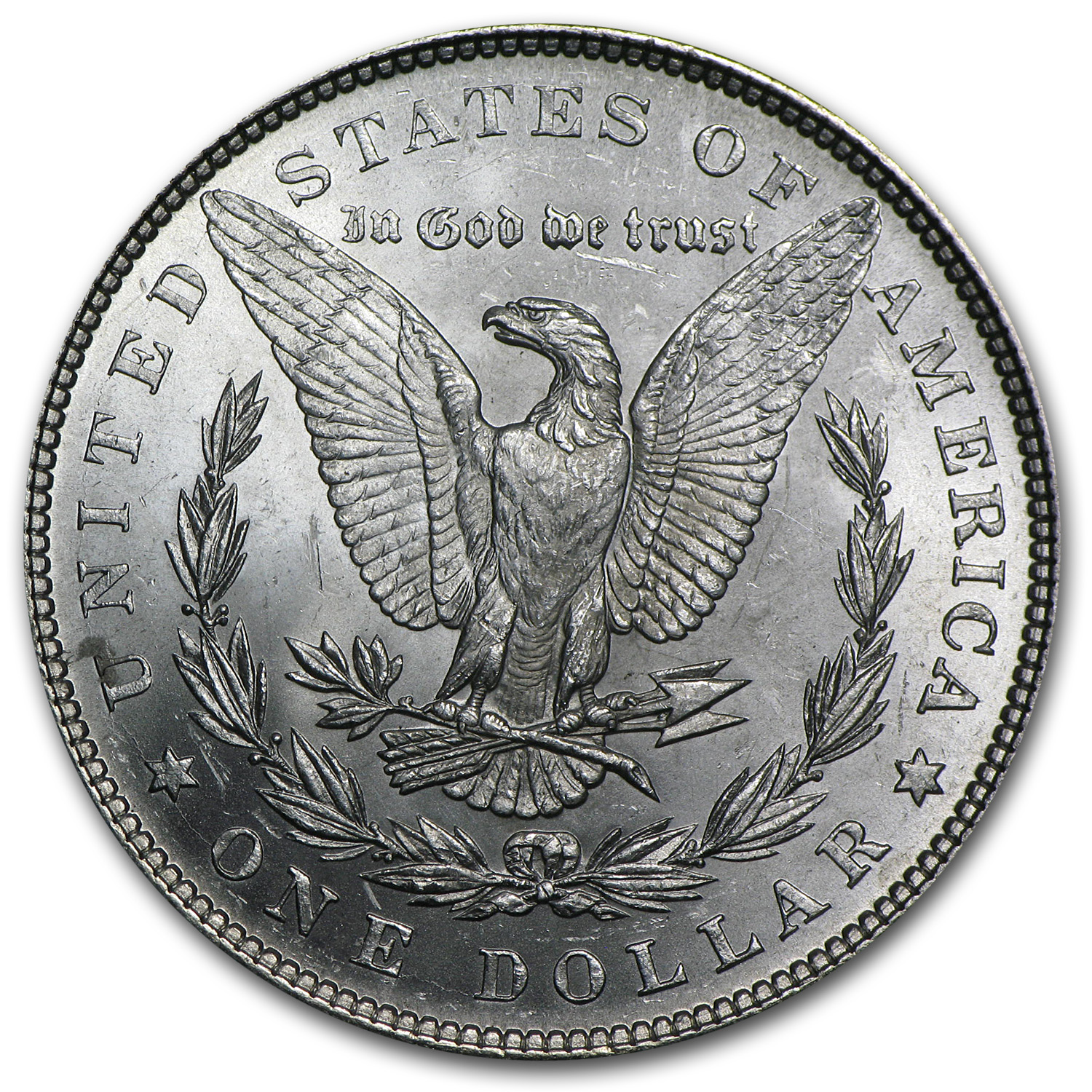 1878 Morgan Dollar 7 Tailfeathers Rev of 79 BU