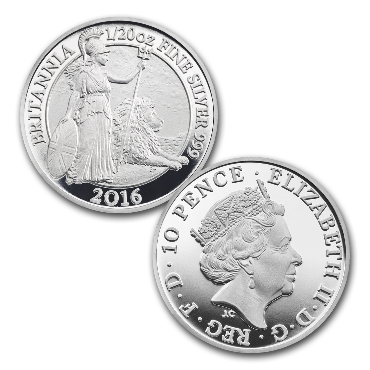 2016 Great Britain 6-Coin Silver Britannia Proof Set