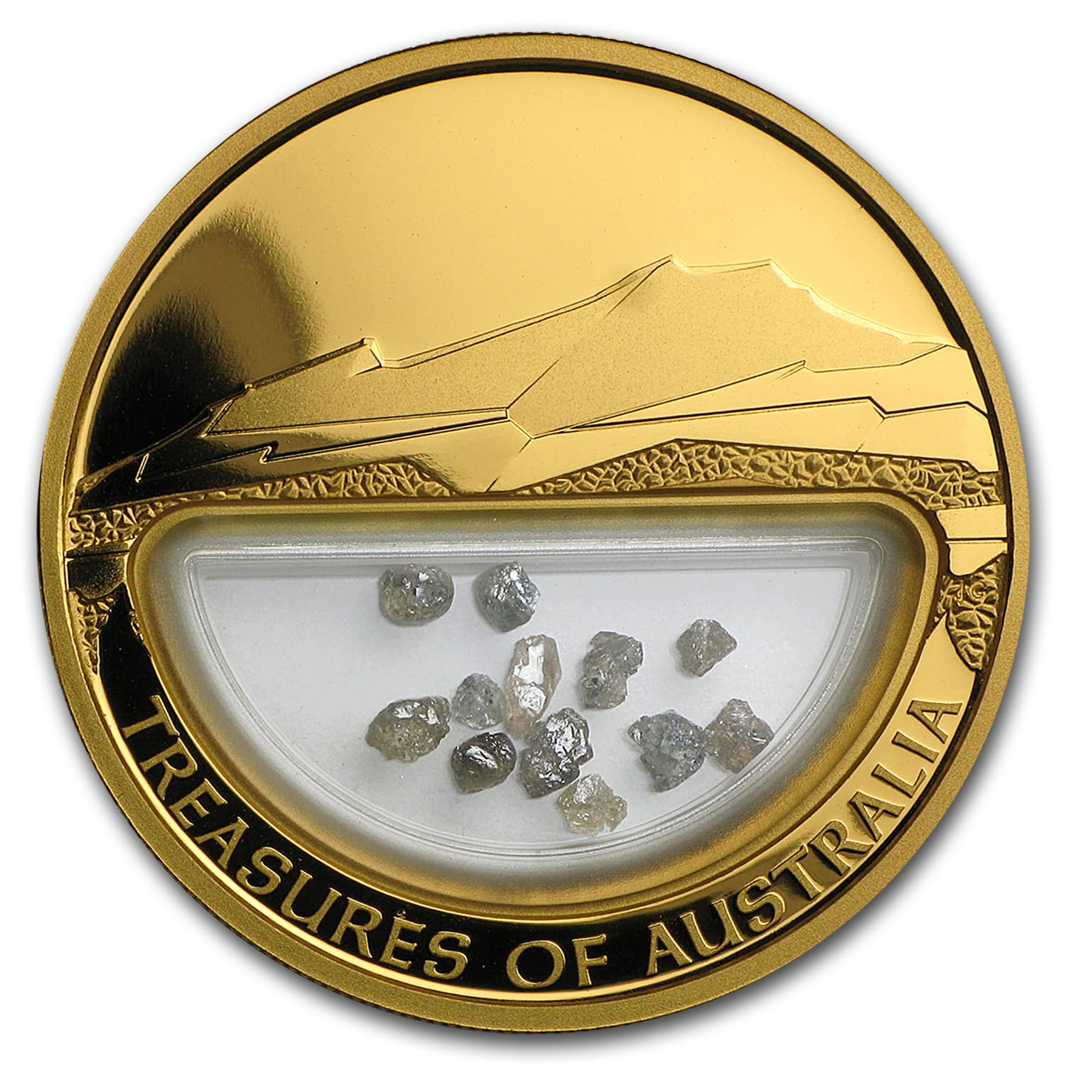 2009 1 oz Proof Gold Diamonds Treasures of Australia