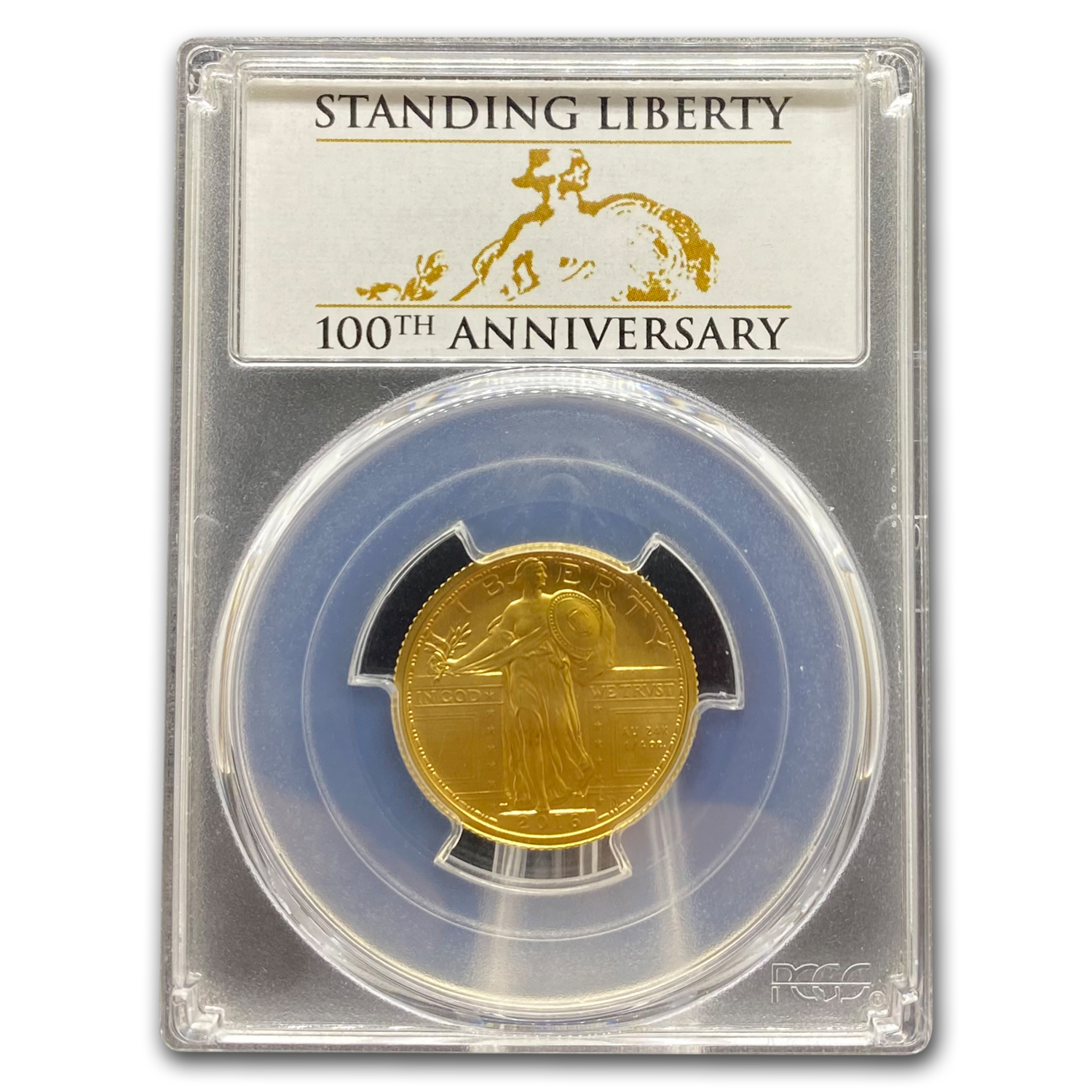 2016-W 1/4 oz Gold Standing Liberty Quarter SP-69 PCGS (FS)