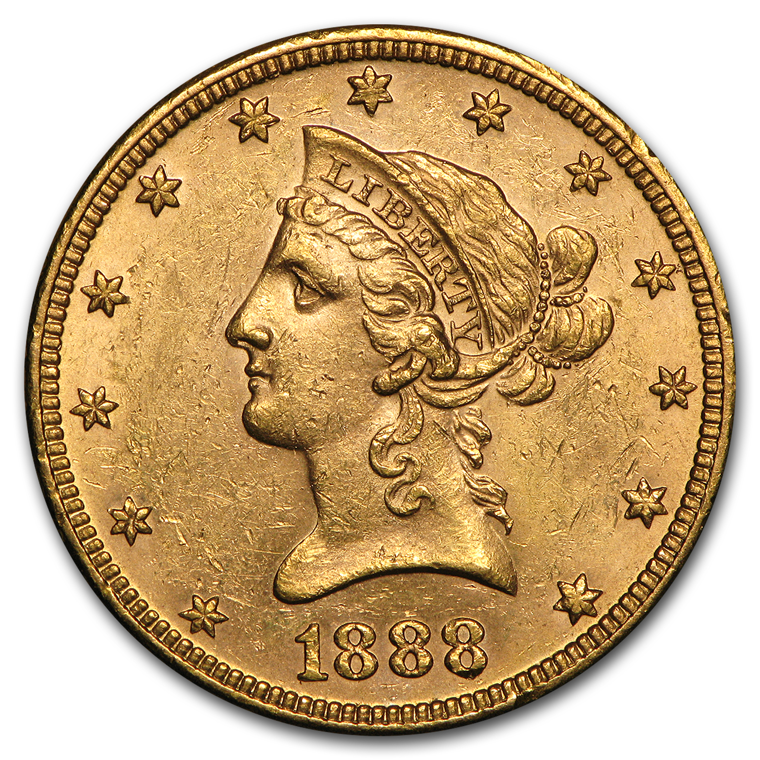 1888 $10 Liberty Gold Eagle BU