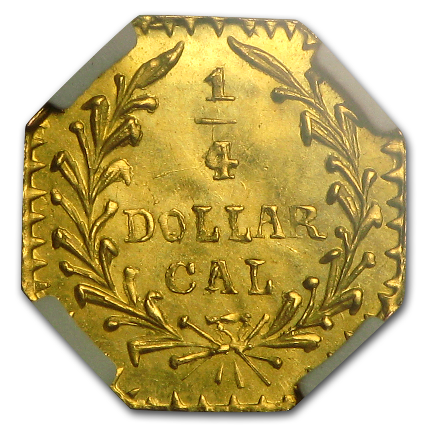 1880 Indian Octagonal 25 cent Gold NGC MS-65 (BG-799X)