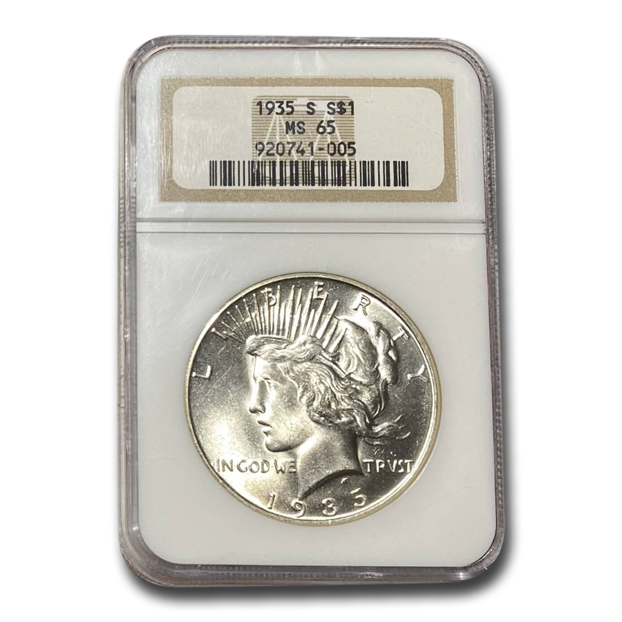 1935-S Peace Silver Dollar MS-65 NGC
