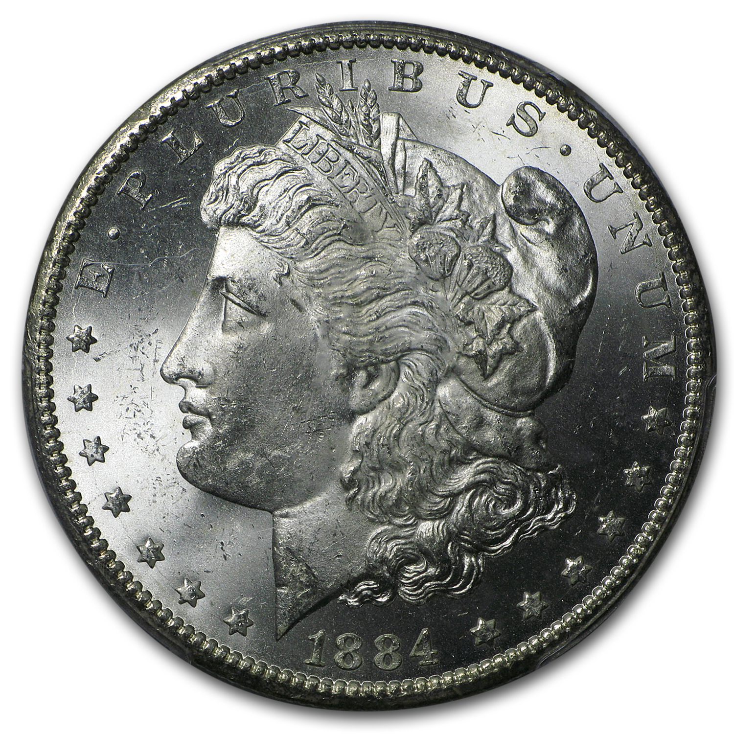 1884-CC Morgan Dollar MS-64+ Plus (CAC) PCGS