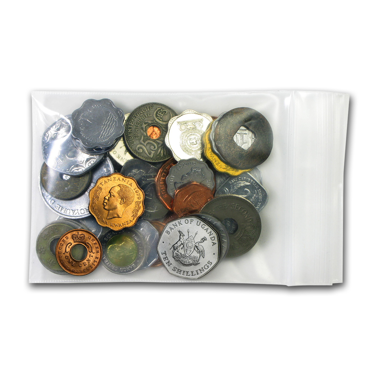 Mixed World Set 45-Odd Shaped Coins