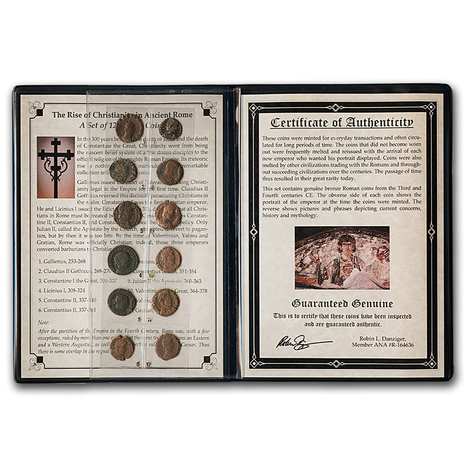 Roman Bronze 12-Coin Collection Rise of Christianity