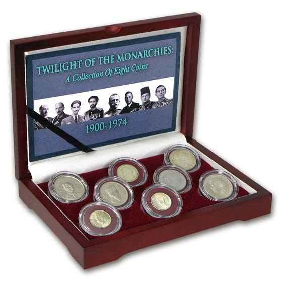1900-1974 8-Coin Twilight of the Monarchies Set