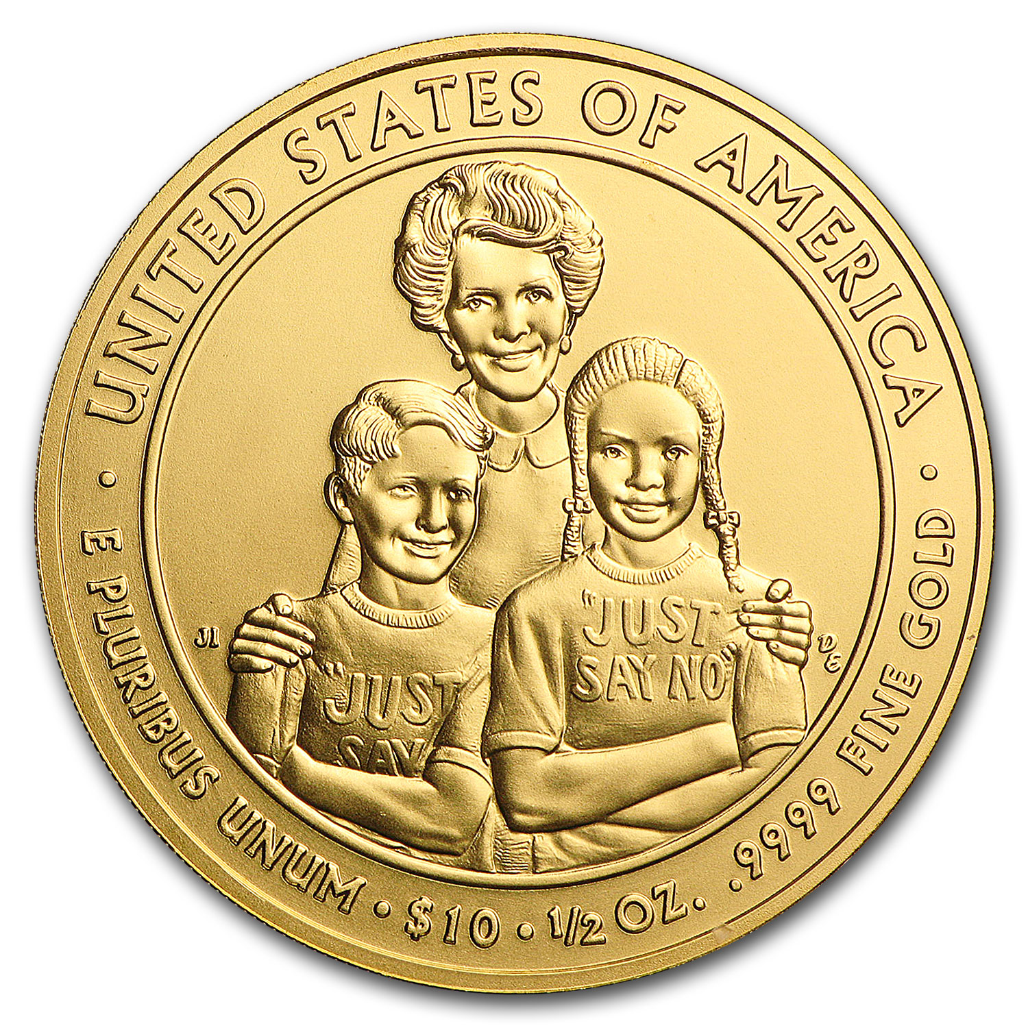2016-W 1/2 oz Gold Nancy Reagan BU (w/Box & COA)