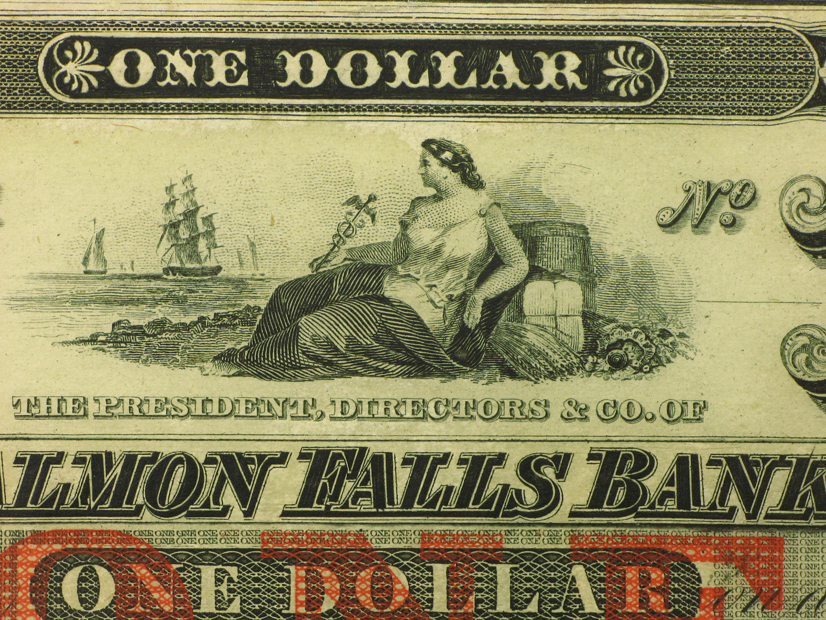 18__ Salmon Falls Bank of Rollinsford, NH $1.00 Note Ch CU