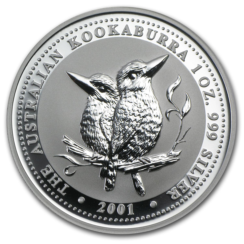 2001 Australia 1 Oz Silver Kookaburra Bu Perth Mint