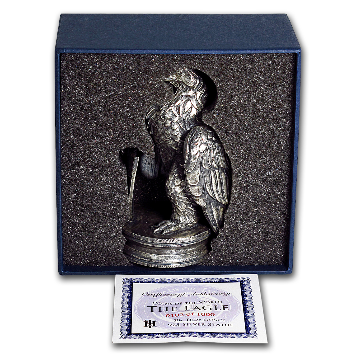 20 oz Silver Antique Statue - Coins of the World (Silver Eagle)