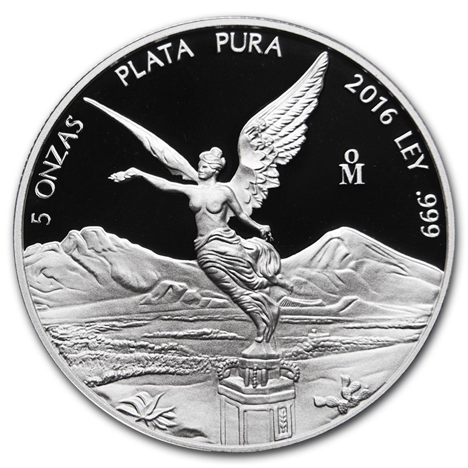 2016 Mexico 5 oz Silver Libertad Proof (In Capsule)