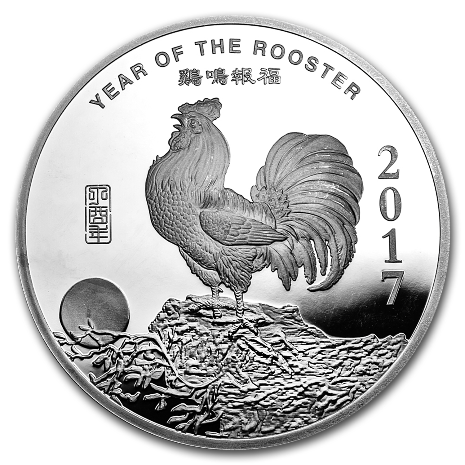 10 oz Silver Round - APMEX (2017 Year of the Rooster)