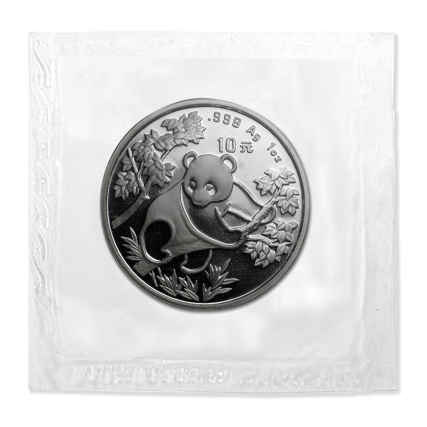 1992 1 oz Silver Chinese Panda Large Date BU (Sealed)