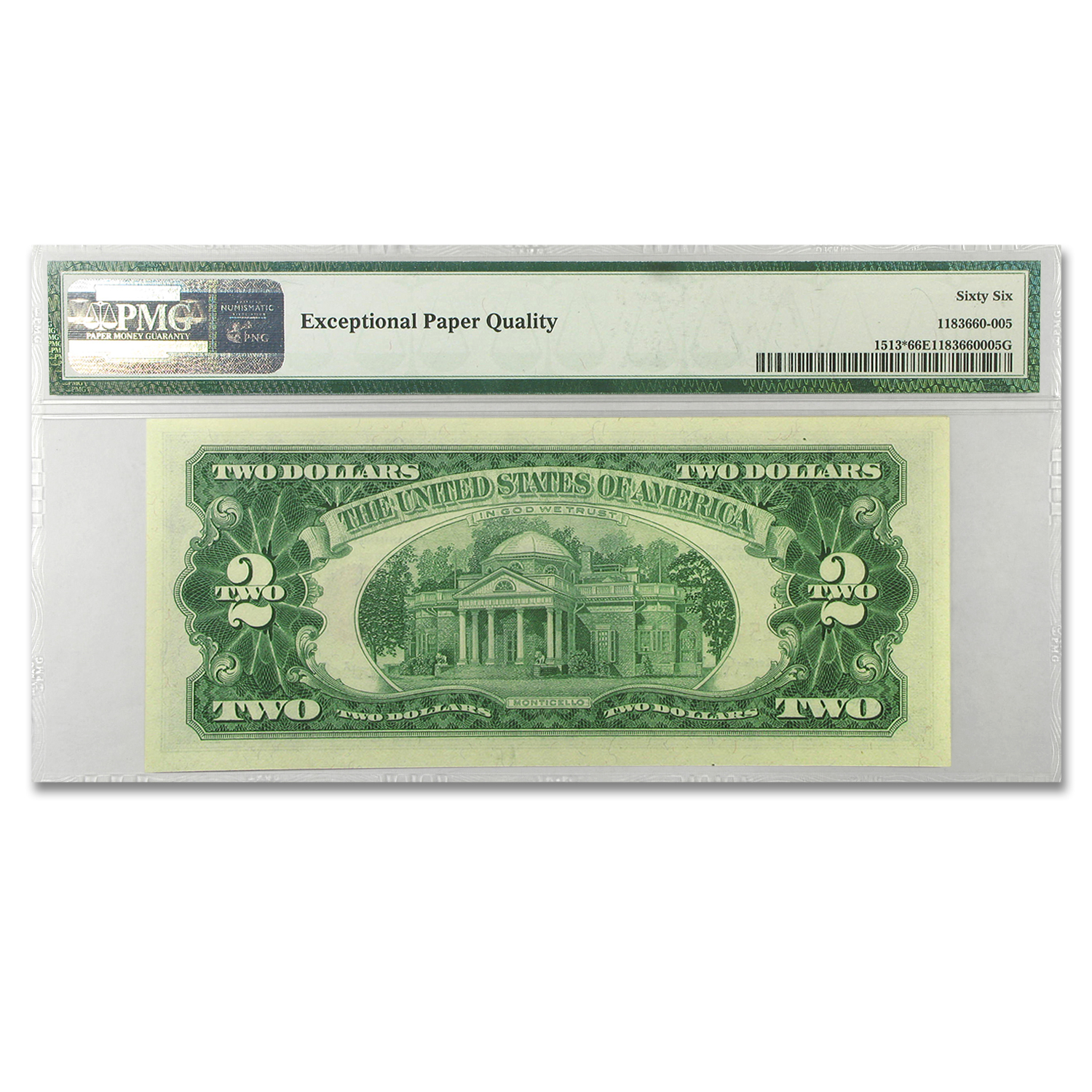 1963 $2.00 U.S. Notes Red Seal CU-66 EPQ PMG (Star Note)