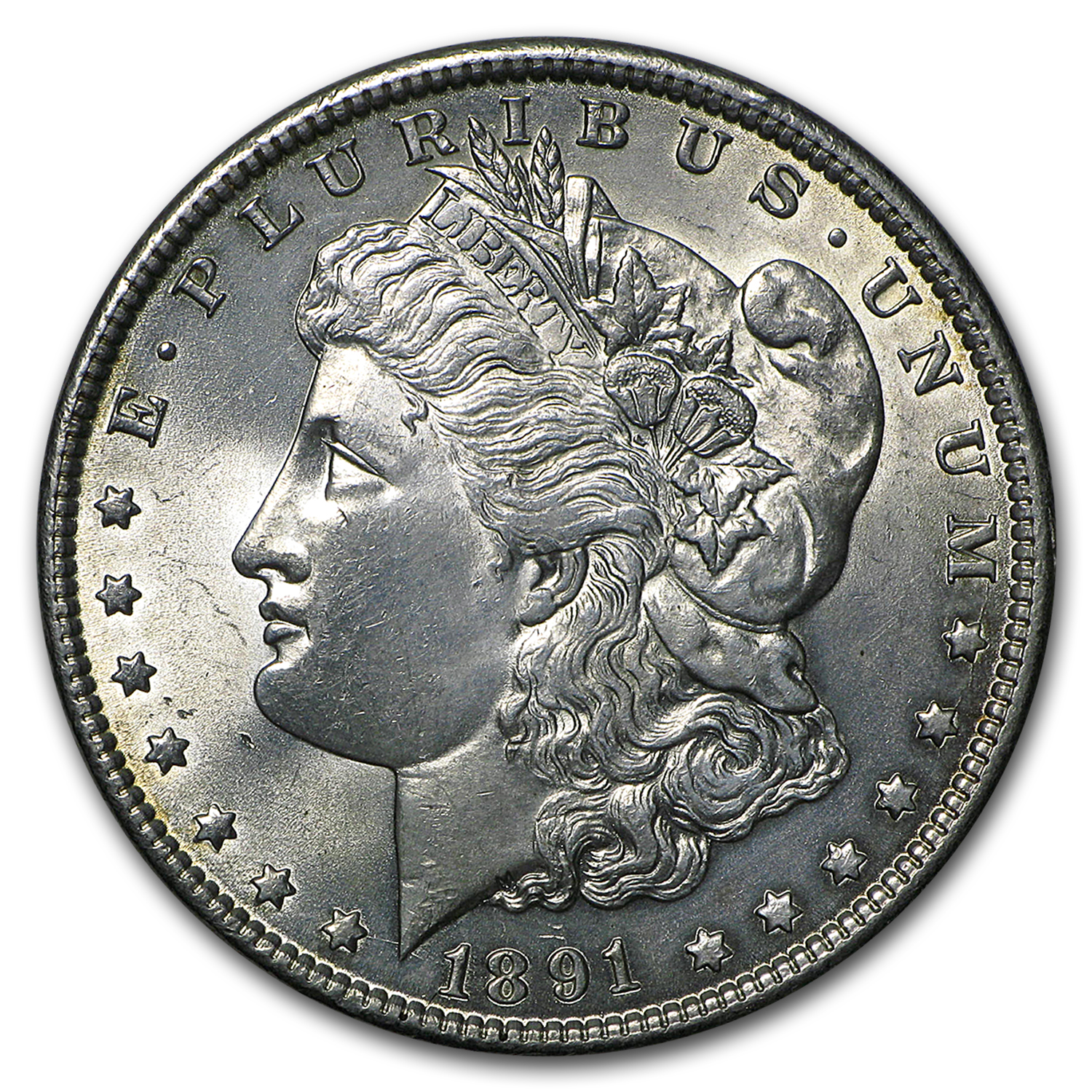 1891 Morgan Dollar MS-64 (Cleaned)