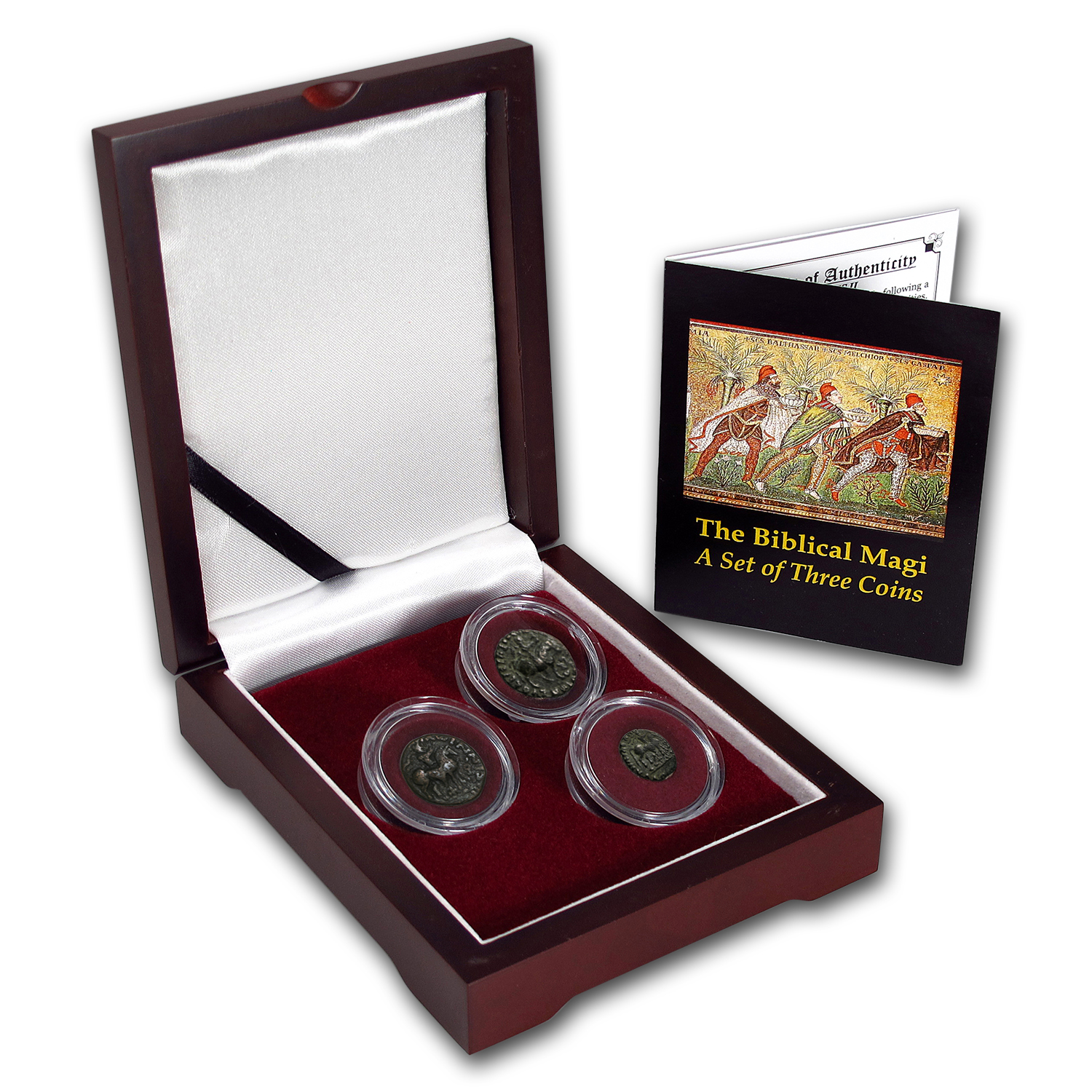 Indo-Scythian 3-Coin Set The Biblical Magi (35 BC-5 AD)