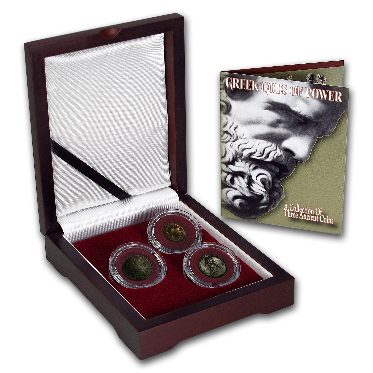 Greek Bronze 3-Coin Set The Greek Gods of Power (196 - 146 BC)
