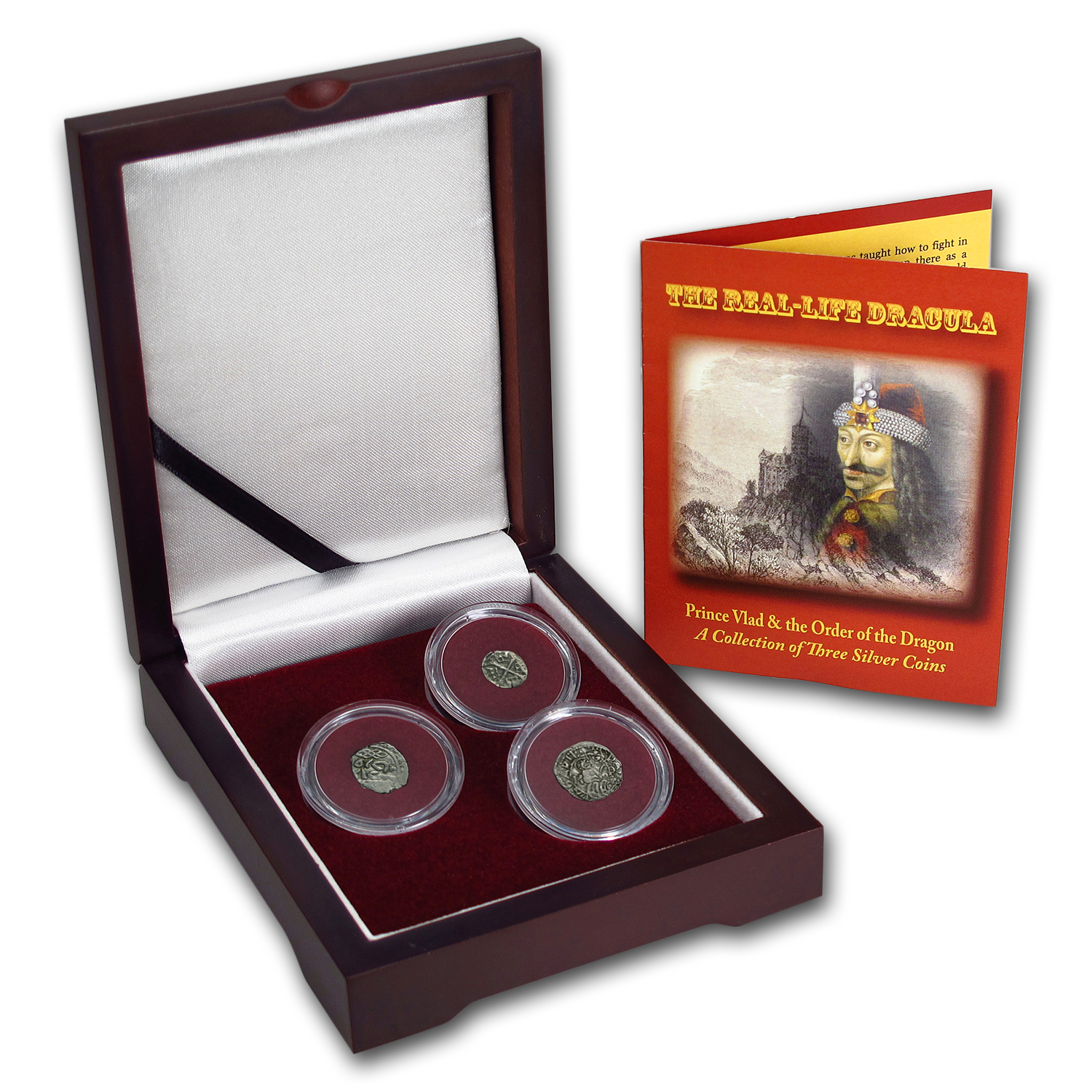 Silver 3-Coin Set The Real-Life Dracula (1358 - 1705)