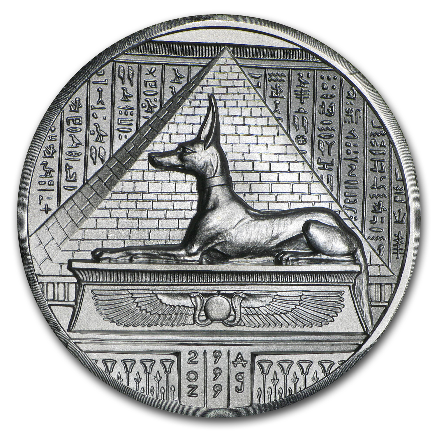 2 oz Silver Round - Anubis (Ultra High Relief)
