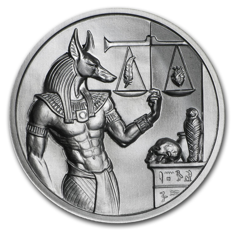 Elemetal Anubis Silver Round 2 Oz Ultra High Relief