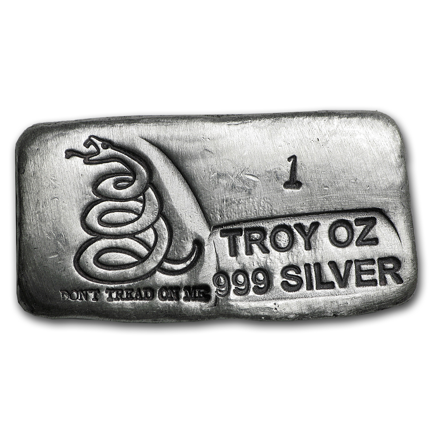 1 oz Silver Bar - Don't Tread On Me (PG&G)
