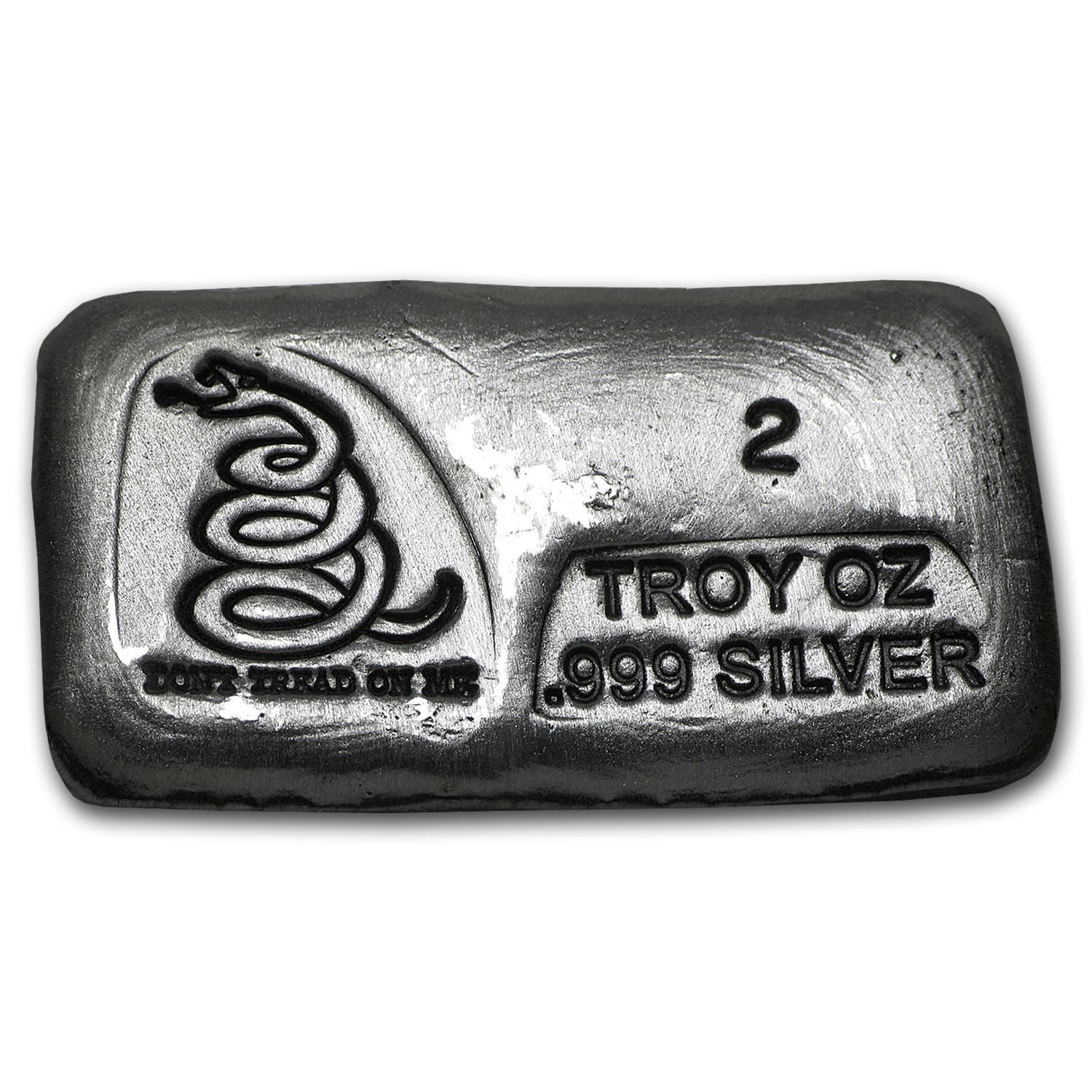 2 oz Silver Bar - Don't Tread On Me (PG&G)