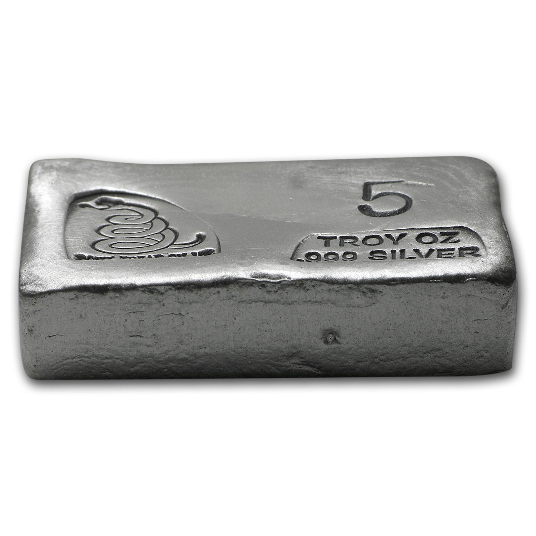 5 Oz Silver Bar Don T Tread On Me Pg Amp G Prospector S