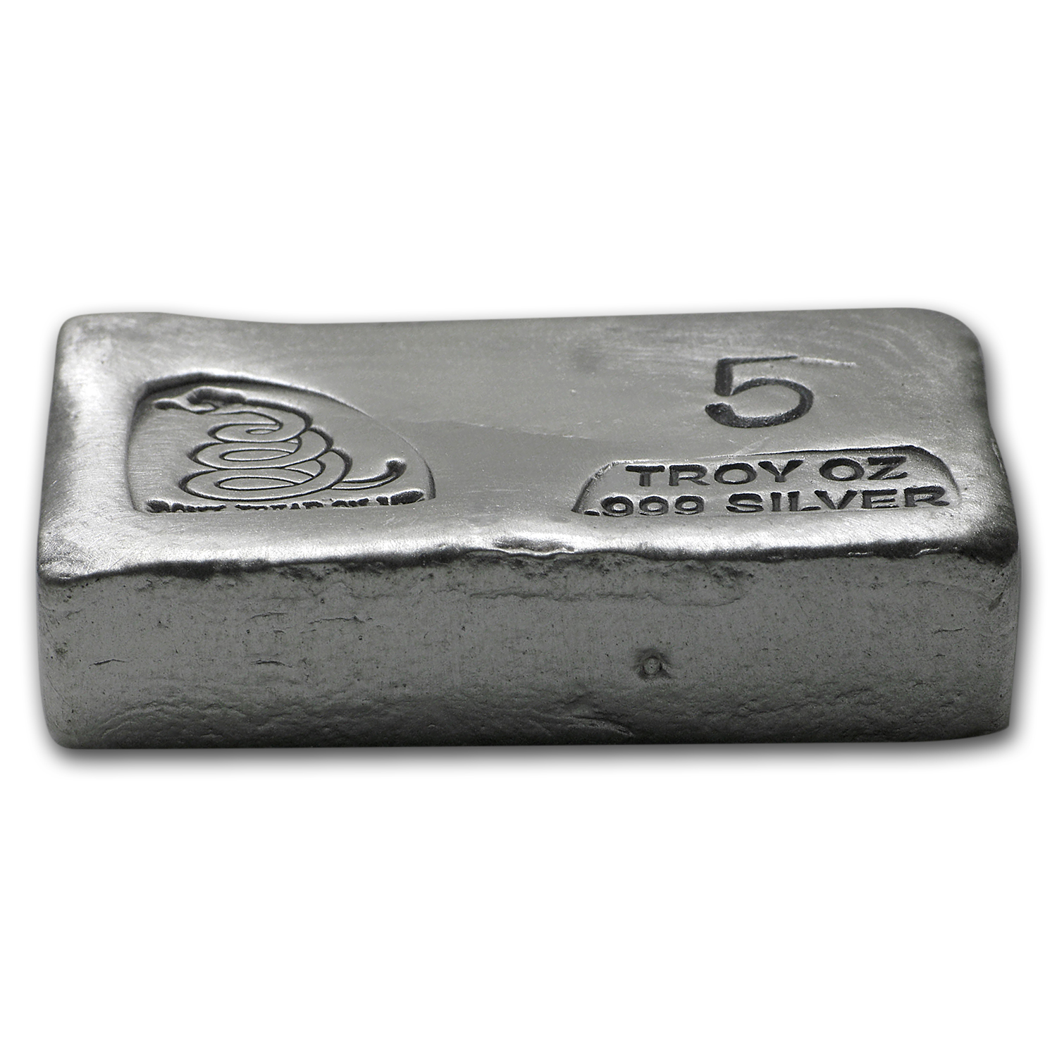5 oz Silver Bar - Don't Tread On Me (PG&G)