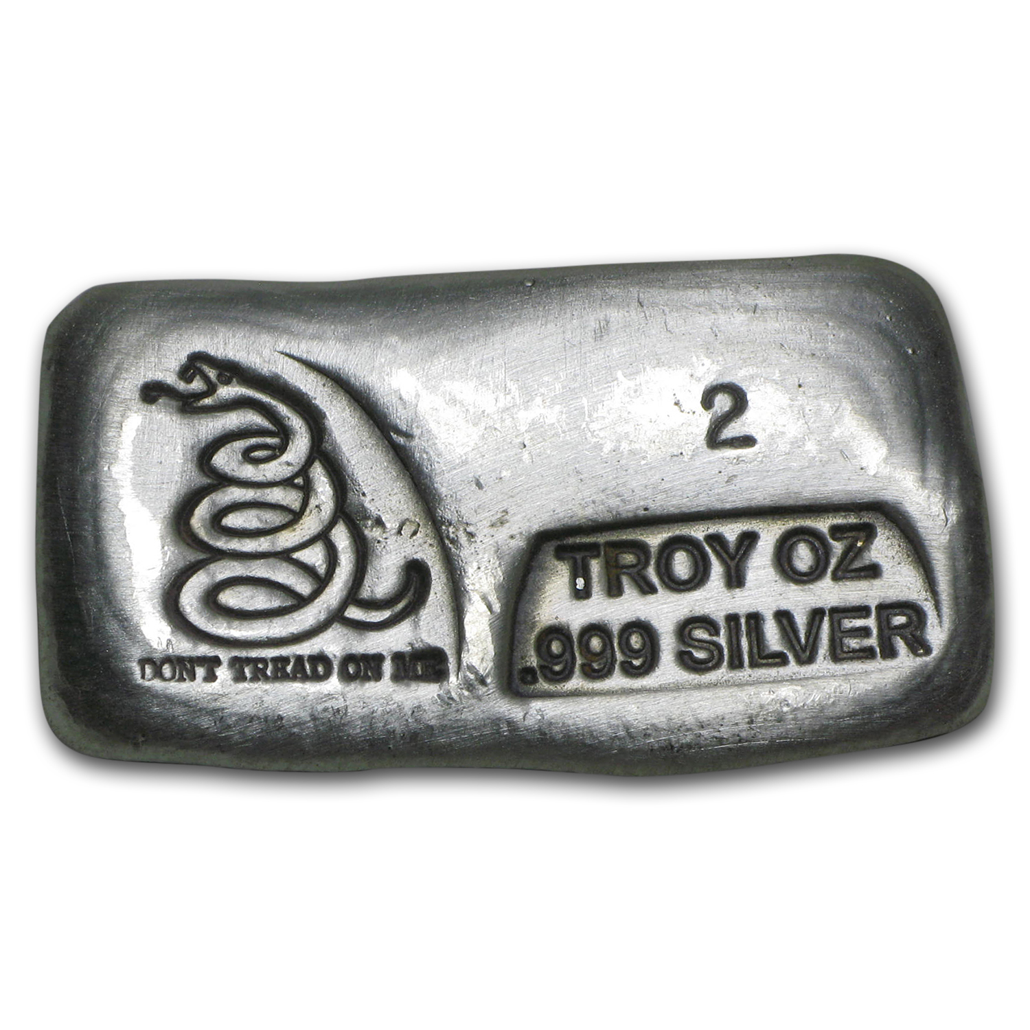 1 oz-10 oz Silver Bars - Don't Tread On Me (PG&G, 55 oz total)