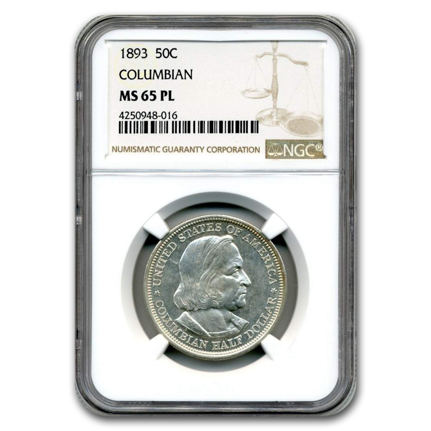 1893 Columbian Expo Half Dollar MS-63 PL NGC