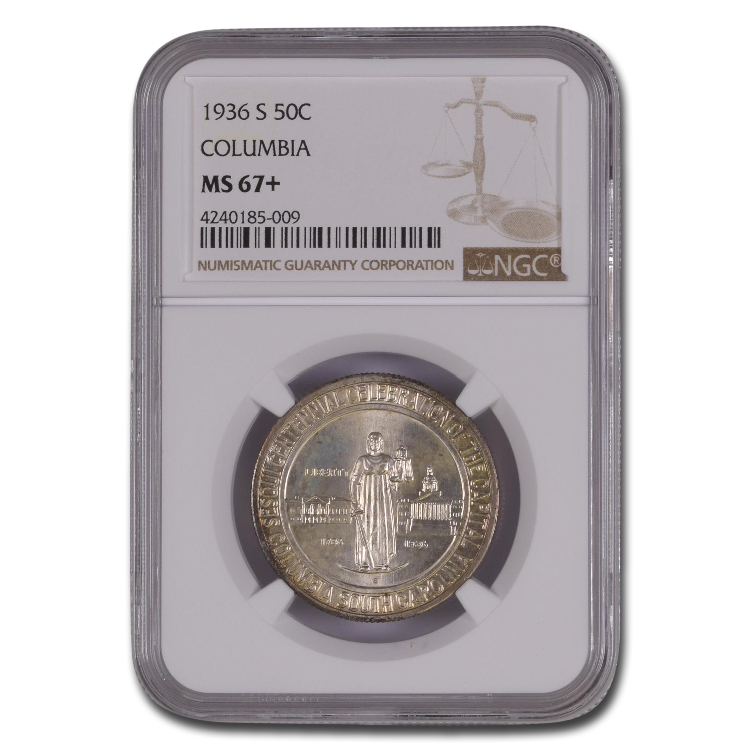 1936-S Columbia Half Dollar MS-67+ NGC