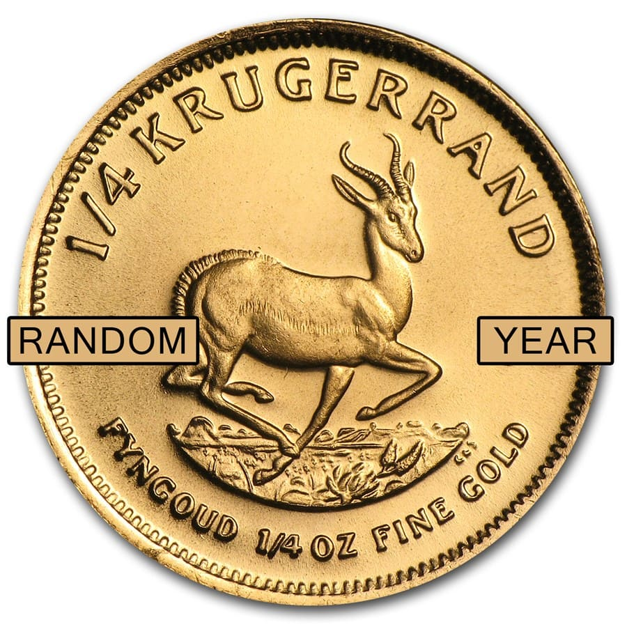 South Africa 1/4 oz Gold Krugerrand (Random Year)