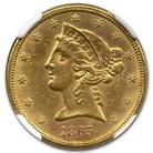 1865-S $5 Liberty Gold Half Eagle MS-61 NGC