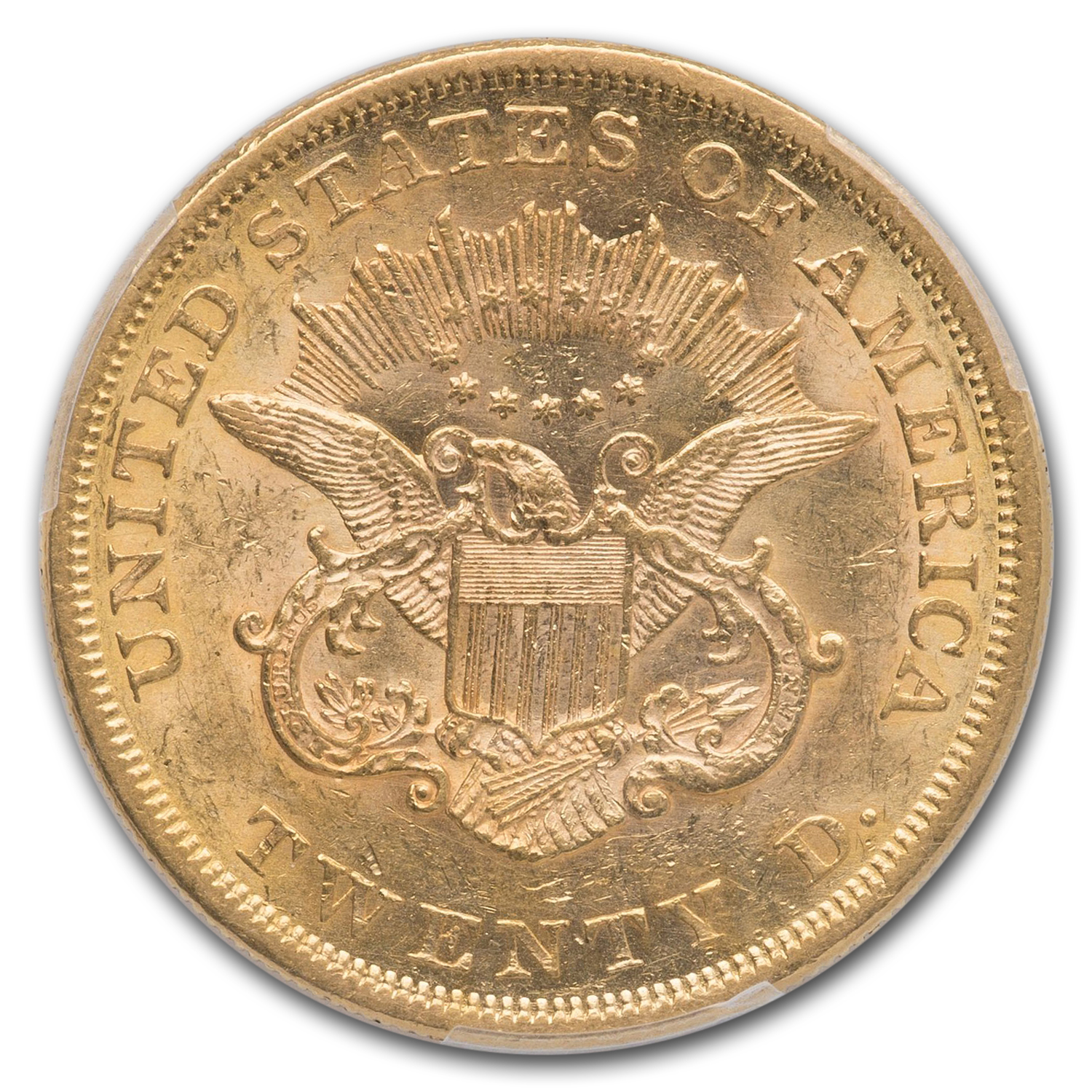 1864 $20 Liberty Gold Double Eagle AU-55 PCGS
