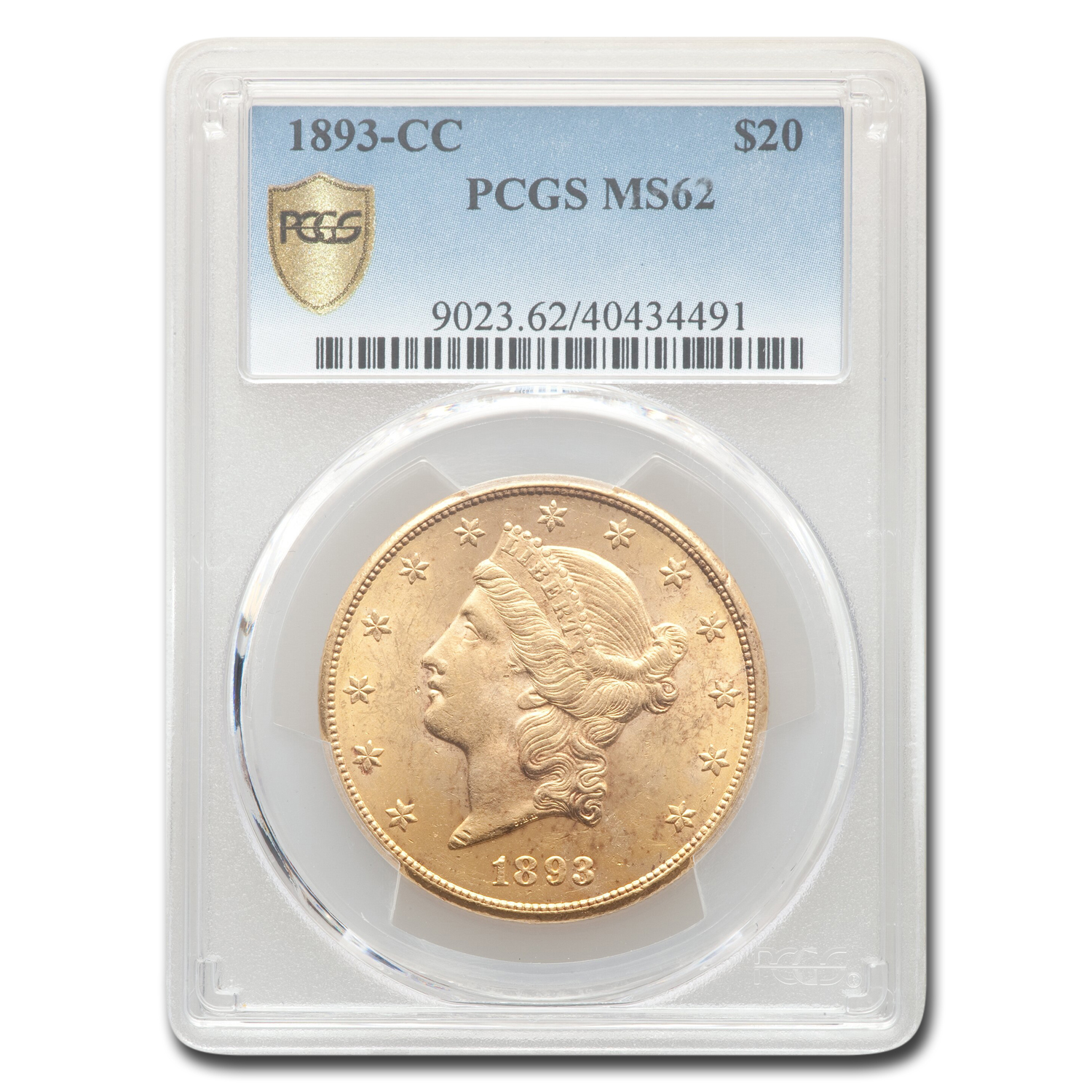 1893-CC $20 Liberty Gold Double Eagle MS-62 PCGS