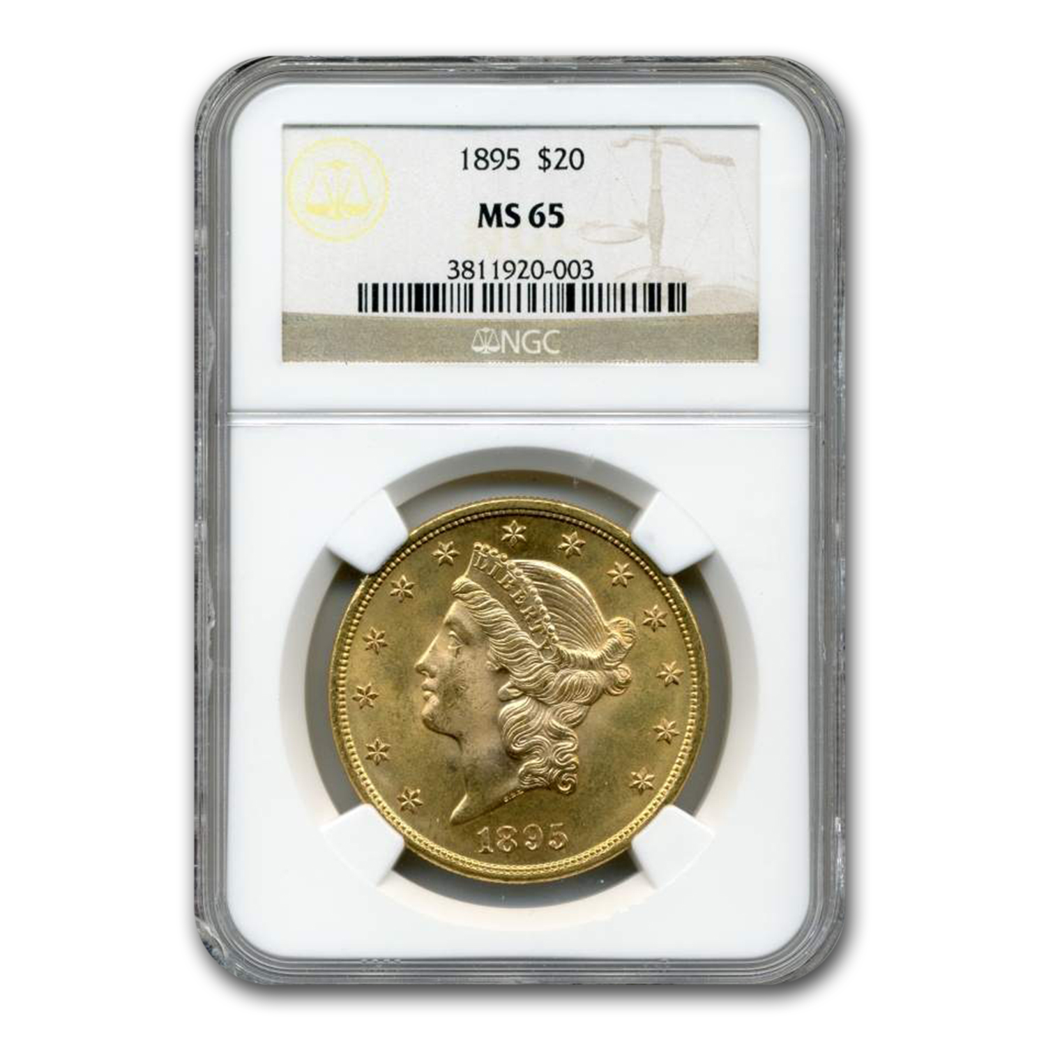 1895 $20 Liberty Gold Double Eagle MS-65 NGC