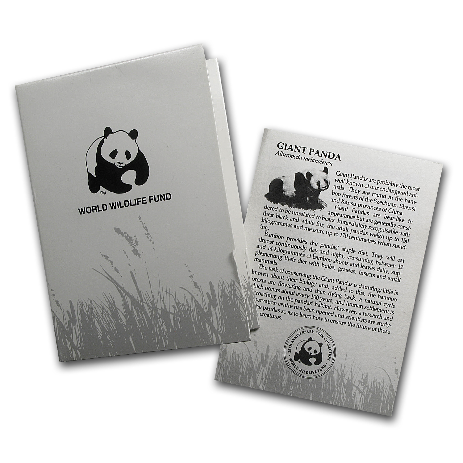 1986 China Silver Panda 5 Yuan Wildlife Fund Proof (Card & COA)