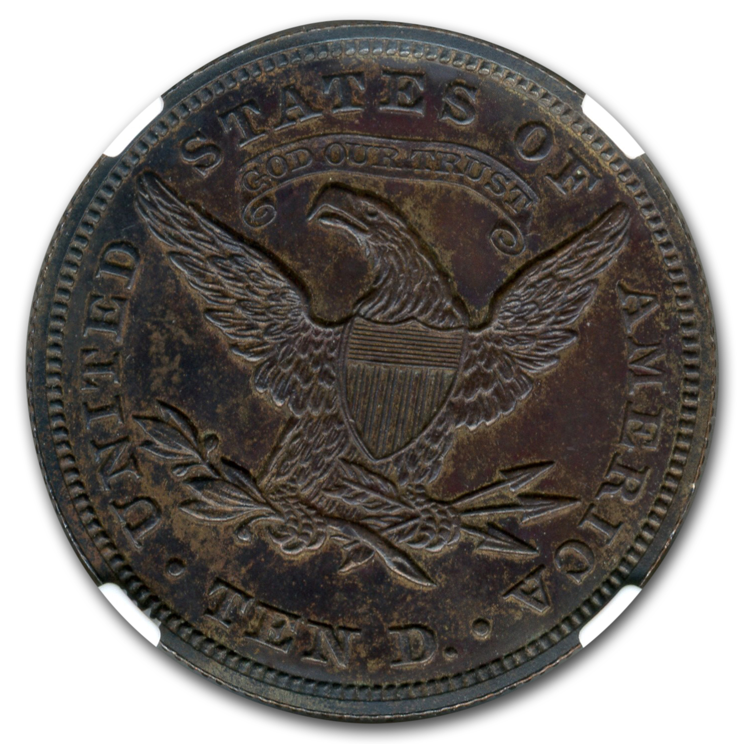 "1863 $10 ""God Our Trust"" Exemplar Pattern PF-63 NGC (Judd-350)"