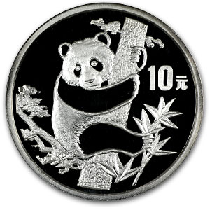 1987 1 oz Silver Chinese Panda Proof (w/Box & COA)